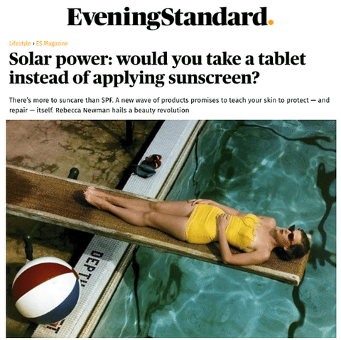 Solar power: would you take a tablet instead of applying sunscreen?