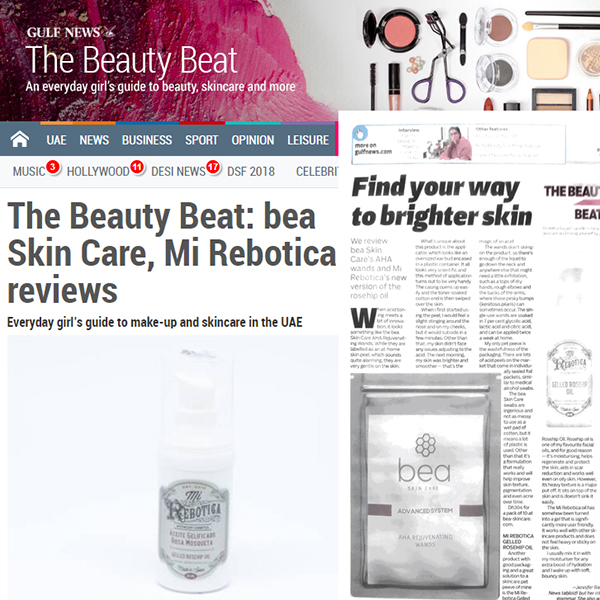 The Beauty Beat: bea Skin Care, Mi Rebotica reviews