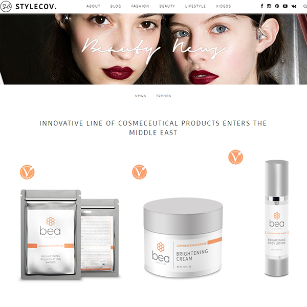 Innovative line of cosmeceutical products enters the middle east