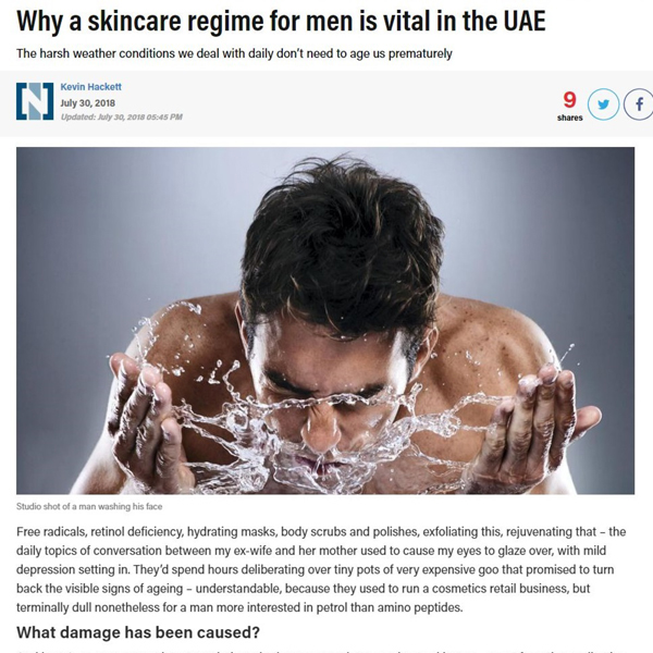 Why a skincare regime for men is vital in the UAE