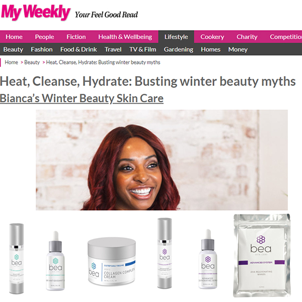 Heat, Cleanse, Hydrate: Busting winter beauty myths - Bianca's Winter Beauty Skin Care & Spring Skin Care Tips From Bianca