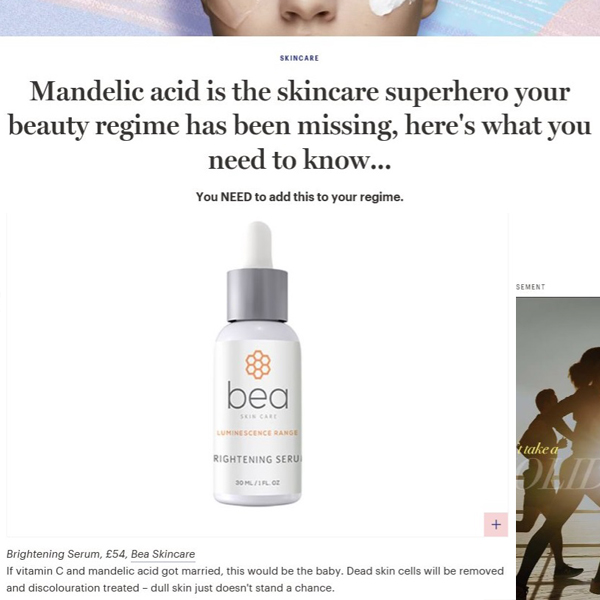 Mandelic acid is the skincare superhero your beauty regime has been missing, here