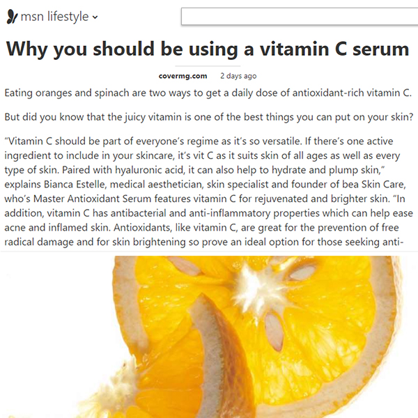 Why you should be using a vitamin C serum