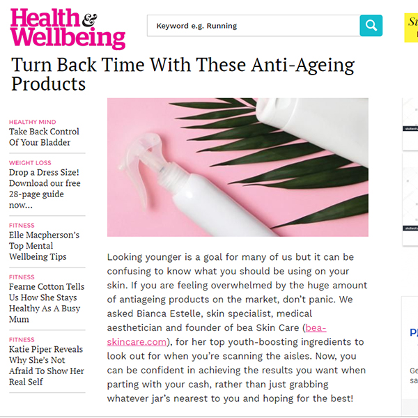 Turn Back Time With These Anti-Ageing Products