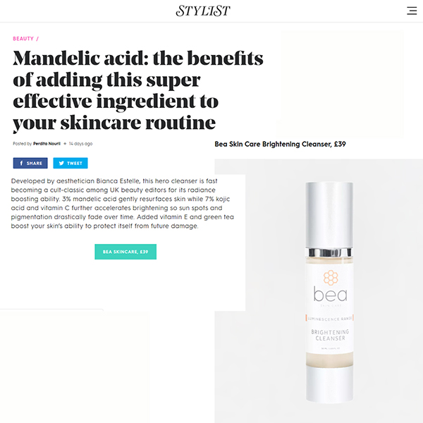 Mandelic acid: the benefits of adding this super effective ingredient to your skincare routine