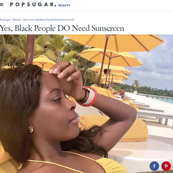 Yes, Black People Do Need Sunscreen